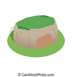 Sigiriya rock, Sri Lanka icon, isometric 3d style - icon in...