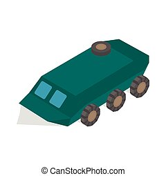 Armoured troop carrier wheeled icon - icon in isometric 3d...