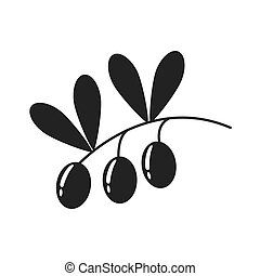 Olive plant icon. Organic and Healthy food design. Vector...