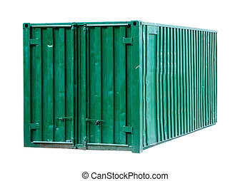 green metal container