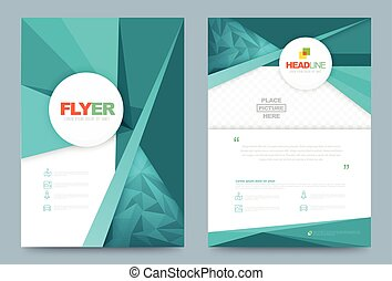 Template design - Vector cover design template simply and...