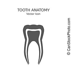 Tooth icon vector illustration. Medical concept in flat...