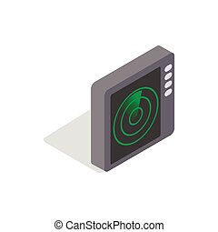 Radar screen icon, isometric 3d style - icon in isometric 3d...