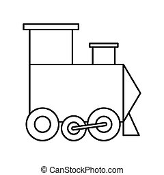 Train icon Toy design Vector graphic - Toy concept...