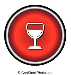 Vector illustration of wine glass
