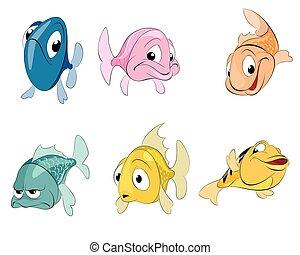 Six fishes set