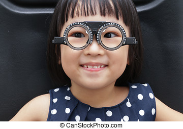 asiático, poco, chino, niña, hacer, ojos,...