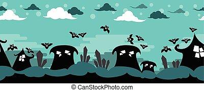 Halloween Vector Horror Scene