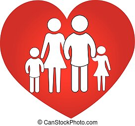 Logo family heart love