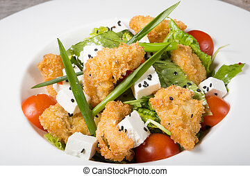 Chicken salad with cheese