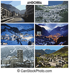 Pictures of different places and landscapes in Andorra