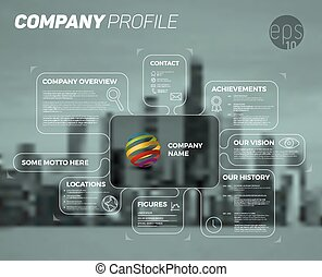 Vector design infographic template of company overview -...