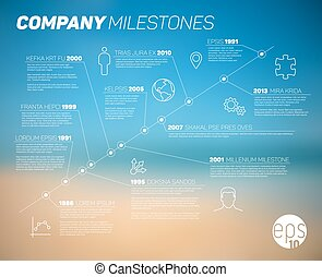 Vector company timeline infographic template