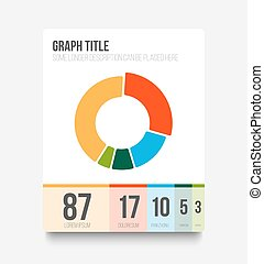 Vector flat user interface UI of pie chart - Vector flat...