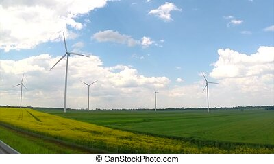 New windmill in field - New windmill for renewable electric...