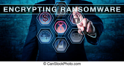 Malware Operator Touching ENCRYPTING RANSOMWARE - Male...