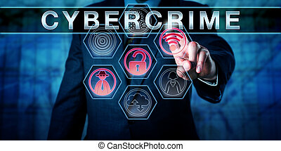 Computer Security Expert Pressing CYBERCRIME - Computer...