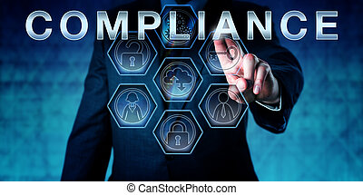 Corporate Auditor Touching COMPLIANCE - Male corporate...