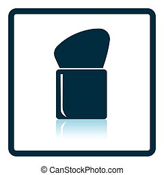 Make Up brush icon. Shadow reflection design. Vector...
