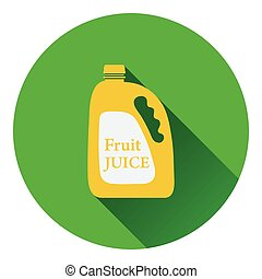Fruit juice canister icon Flat color design Vector...