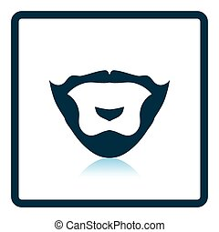 Goatee icon. Shadow reflection design. Vector illustration.