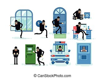 Set offenders, thief breaks window, running with bag of...