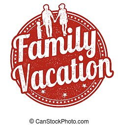 Family vacation stamp - Family vacation grunge rubber stamp...