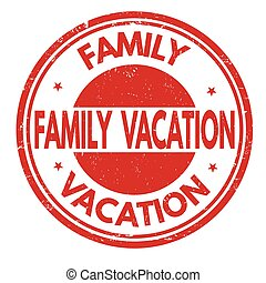 Family vacation stamp