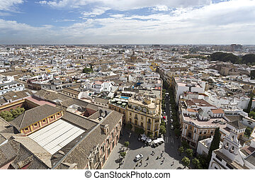 View of Seville, the capital and largest city of the...