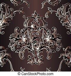 Vintage baroque wallpaper