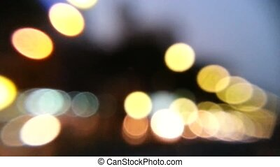 Moving light bokeh background - Abstract moving bokeh...