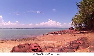 Rock beach sea view