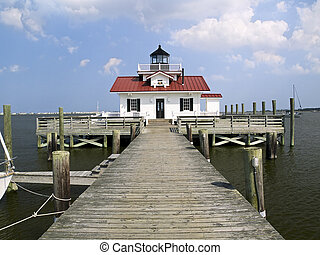 Roanoke Marshes Light, Manteo, NC - The Roanoke Marshes...