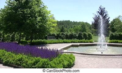 English style garden.