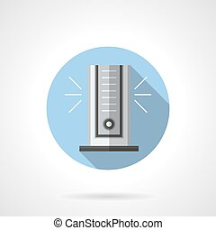 Air cooler with ionizer round flat vector icon - Vertical...