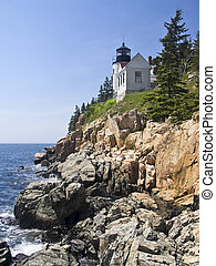 Bass Harbor Head Light, Maine - Bass Harbor Head Light, a...
