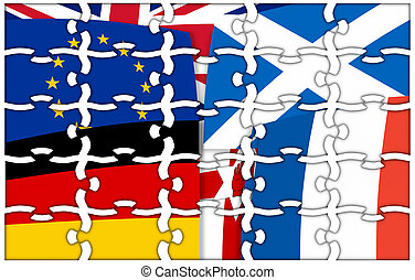 Puzzle Europe north irland germany scotland france United...