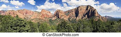 Panorama of Kolob Canyons, Zion NP