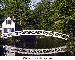 Footbridge at Somesville, Maine - Footbridge and its...