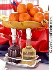 oil and vinegar bottles