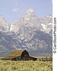 teton, grange, Mormon, rang, Wyoming