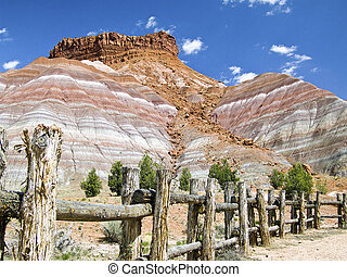 Pariah Cliffs and Fence, Utah - The Pariah movie set in...