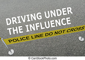 Driving Under The Influence police concept - Render...