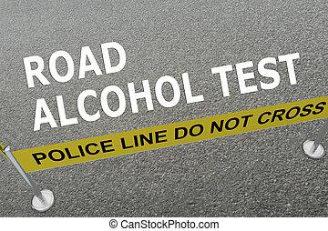 Road Alcohol Test police concept - Render illustration of...