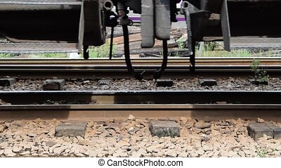 Suspension of Thai train - Zoom train suspension of a Public...