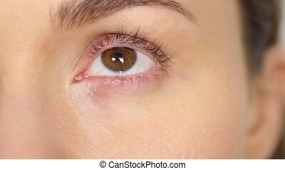 Highlighter makeup for eyes and eye corners