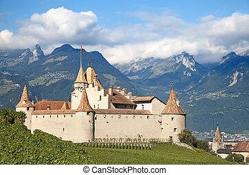 Chateau dAigle - Famous castle Chateau dAigle in canton...