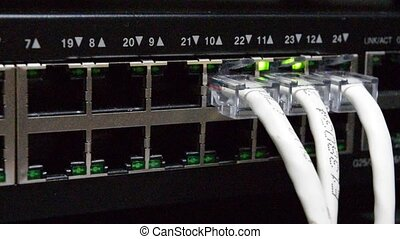 Network switch and LAN Line - Network switch HUB and...