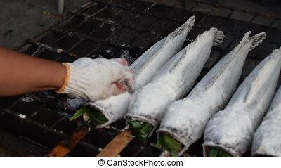Salt-Crusted Grilled Fish - Salt-Crusted Grilled Snakehead...
