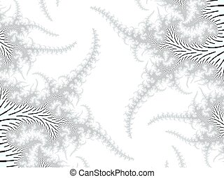 Colored fractal background - White and black fractal pattern...
